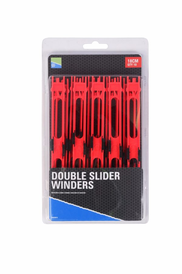 DOUBLE SLIDER WINDERS 18cm RED