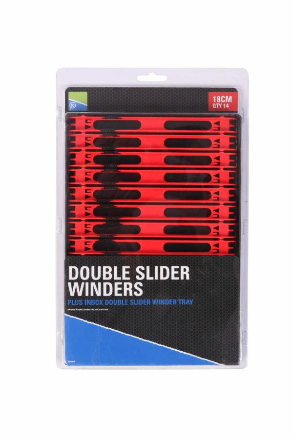 DOUBLE SLIDER WINDERS 18cm IN A TRAY