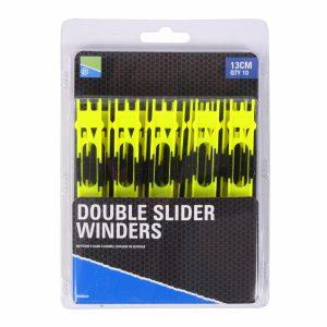 DOUBLE SLIDER WINDERS 13cm YELLOW