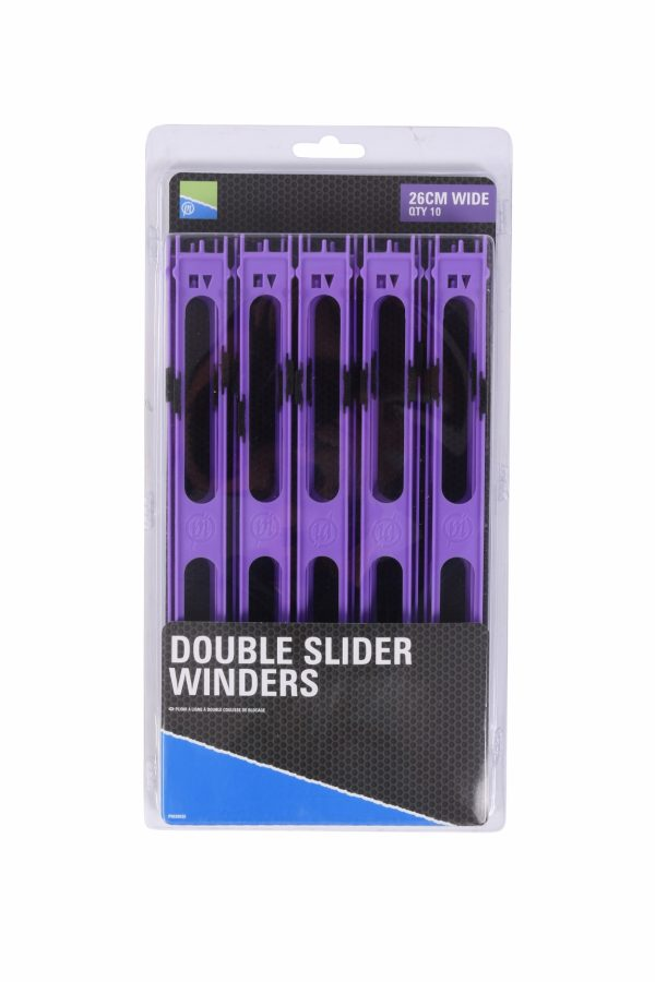 DOUBLE SLIDER WINDERS 26cm WIDE PURPLE