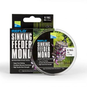 0.26MM REFLO SINKING FEEDER MONO - 150M SPOOL - 8lb